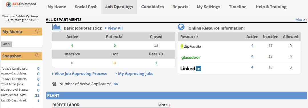 ATS OnDemand Software - Job openings