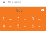 Zoiper screenshot: The Zoiper Pro app for Android showing the keypad for manually entering phone numbers that are not already known within contacts